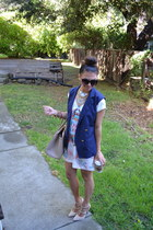 vintage necklace - Nameless dress - Dollhouse pumps - Urban Outfitters vest