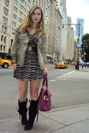 Marshalls dress - Old Navy jacket - Bakers boots - Old Navy bag