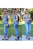 blue Charlotte Russe top
