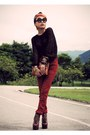 Dark-brown-zara-top-red-april-77-pants-dark-brown-jeffrey-campbell-boots-c
