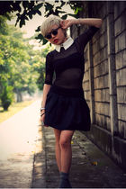 black mesh dress American Apparel dress - black Christian Louboutin shoes