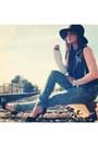 Navy-acid-tone-ymi-jeans-jeans-black-3-toned-leather-nasty-gal-jacket
