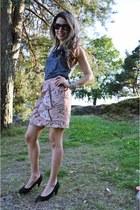 linen H&M skirt