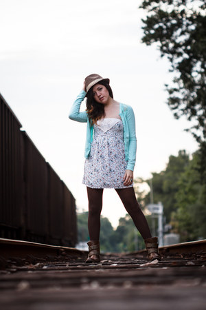 studded PacSun boots - mint Love Culture cardigan