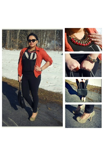 Zara bag - Zara top - Charlotte Russe pants - Famous Footwear pumps
