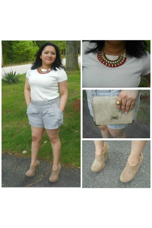 Forever21 shorts - Zara top - Forever21 heels
