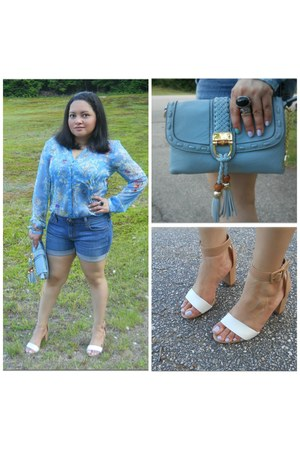 Zara top - Mimi Boutique bag - Levis shorts - Ebay ring