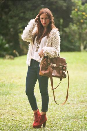 Dorothy Perkins cardigan - Topshop jeans