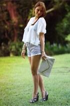 Topshop shorts - Topshop sandals
