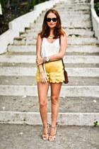 Nasty Gal shorts - Zara heels