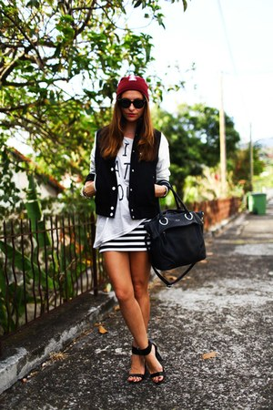 Choies jacket - Topshop heels