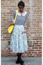 white Chubi top - black Bamboo boots - yellow VJ Style bag