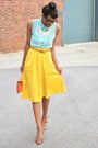 Carrot-orange-satchel-thrifted-bag-yellow-modcloth-skirt