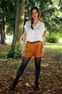 Black-matalan-tights-tawny-suede-effect-matalan-shorts