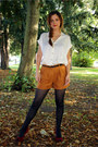 Black-matalan-tights-tawny-suede-effect-matalan-shorts