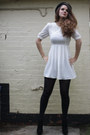 Ivory-mini-dress-jarlo-dress-black-chelsea-boots-stylist-pick-boots