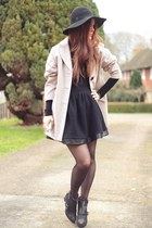 black Nelly boots - tan Wallis coat - black Hedonia skirt