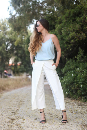 off white culotte lavish alice pants - silver sunglasses zeroUV accessories