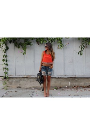 crop top BB Dakota top - pashli 31 Phillip Lim bag - bf shorts asos shorts