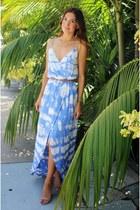 periwinkle tie-dye dress dress