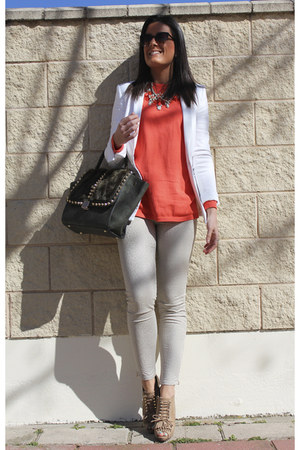Zara sweater - Uterque shoes - Zara blazer