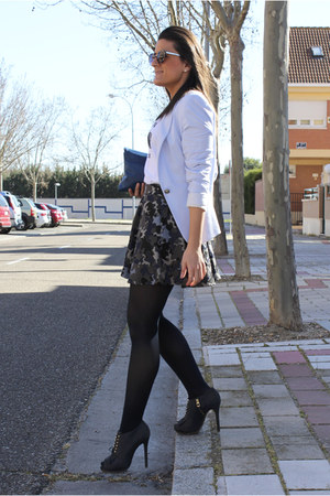 Zara blazer - Uterque shoes - Zara skirt - pull&bear t-shirt
