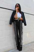 Zara jacket - Zara pants - Stradivarius blouse
