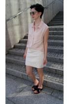 black H&M shoes - neutral H&M sunglasses - light pink H&M blouse