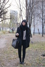 H-m-shoes-fur-secondhand-coat-c-a-sweater-romwe-bag-bershka-pants