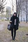 H-m-shoes-fur-secondhand-coat-c-a-sweater-romwe-bag-bershka-pants