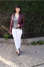 Crimson-leather-jacket-h-m-jacket-white-bershka-pants