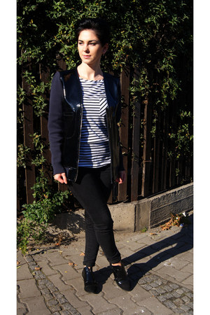 navy patent leather Marni for H&M jacket - black Bershka shoes