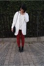 White-zara-jacket-white-h-m-sweater-black-zara-bag