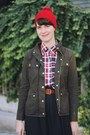 Ruby-red-knit-pompom-fall-code-hat-army-green-cargo-j-crew-coat
