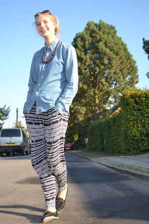 denim shirt Ralph Lauren shirt - Monki pants