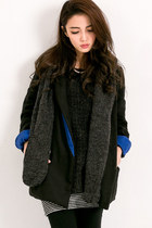 Knitted Hood with Blazer Coat