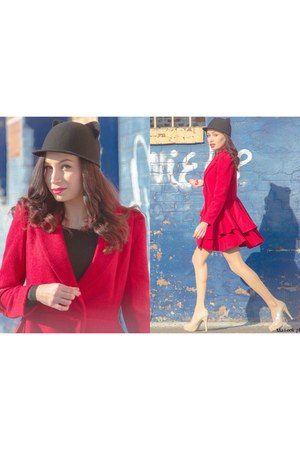 Sheinside coat - romwe hat