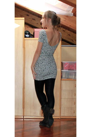 white starred ovs dress - black Me&Me leggings