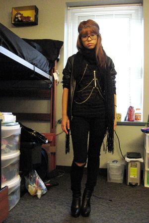 H&M scarf - American Apparel jacket - forever 21 shirt - forever 21 jeans - Ebay