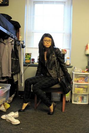 forever 21 pants - American Apparel shirt - tory burch shoes - coach purse
