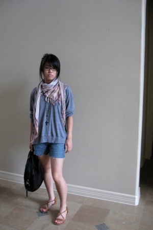 Urban Outfitters scarf - American Apparel sweater - kate spade shoes
