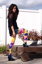 We Love Colors tights - black Jimmy Choo wedges