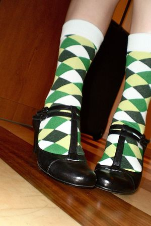 black Van Dalen shoes - green Happy Socks socks
