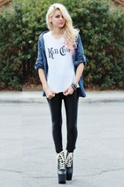UNIF boots - tee Kill City shirt - American Apparel pants