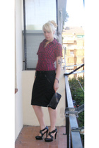 unknown shirt - Diesel skirt - Lautre Chose shoes - Chanel wallet