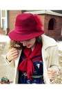 Navy-target-dress-camel-sears-boots-white-old-navy-coat-maroon-vintage-hat