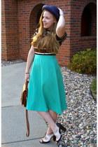 aquamarine vintage skirt