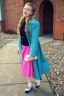 Sky-blue-vintage-coat-bubble-gum-vintage-skirt-dark-gray-vintage-cardigan