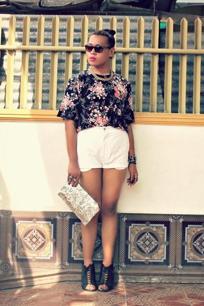 kate spade top - Parisian shoes - DIY bag - Levis shorts