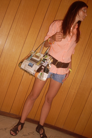 Harmont &amp; Blain shirt - vintage belt - vintage shorts - Momaboma purse - Sixty S